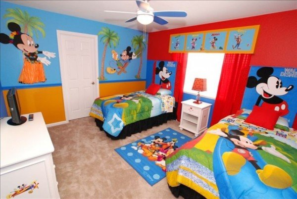 Mickey room ideas design dazzle Mickey mouse bedroom ideas