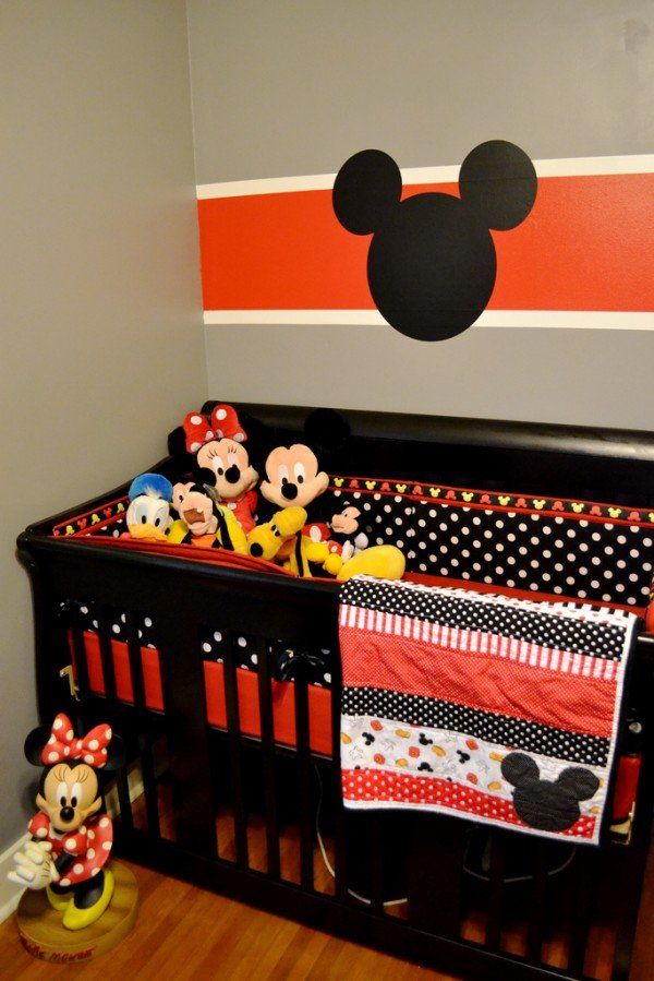 Trend orange mickey mouse nursery