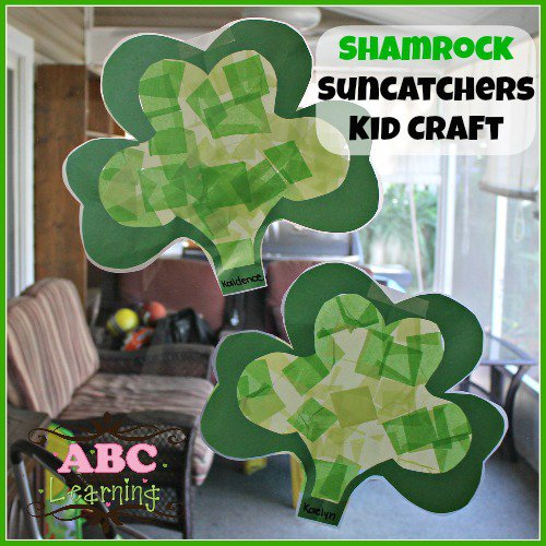 shamock suncatcher craft