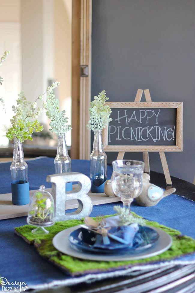 Indoor Picnic Tablescape Design Dazzle