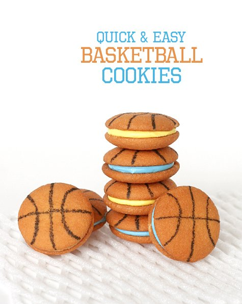 quick and easy basketball cookies