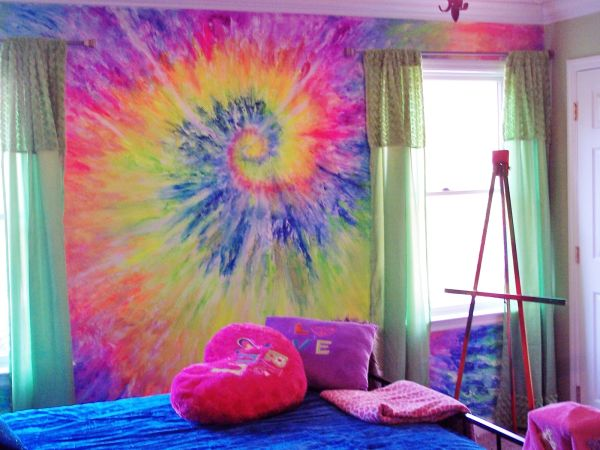 Rainbow Tie Dye Wall