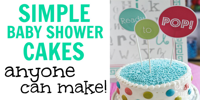 simple baby shower cakes anyone can make