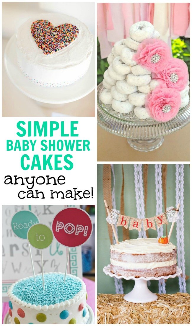 simple baby shower cakes anyone can make design dazzle