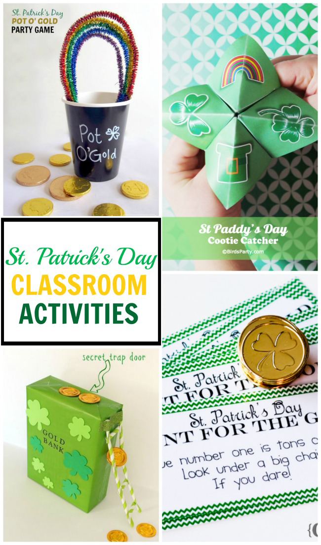 Great collection of St. Patrick's Day classroom ideas to keep the kids busy and having fun this holiday.