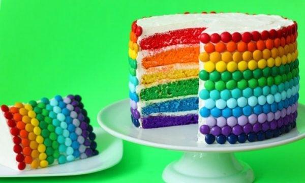 St. Patrick's Day Rainbow Cake