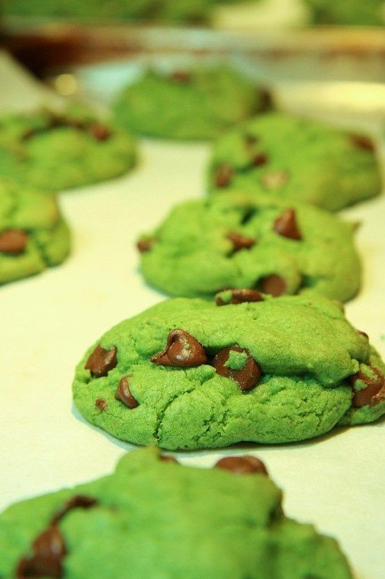 st. patricks day chocolate chip cookiesst. patricks day green desserts st patricks day chocolate chip cookies