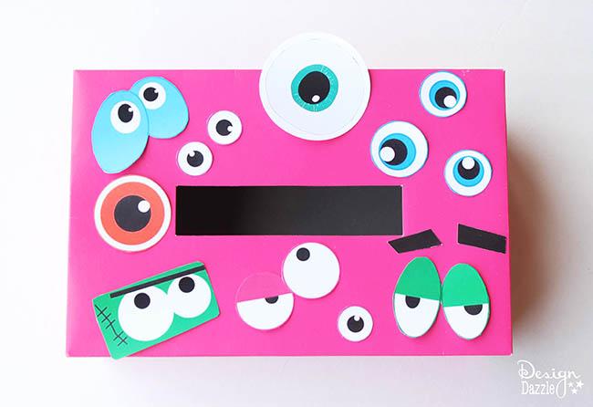 Monster Valentine Card Holder Design Dazzle – Valentine Card Holders for Kids