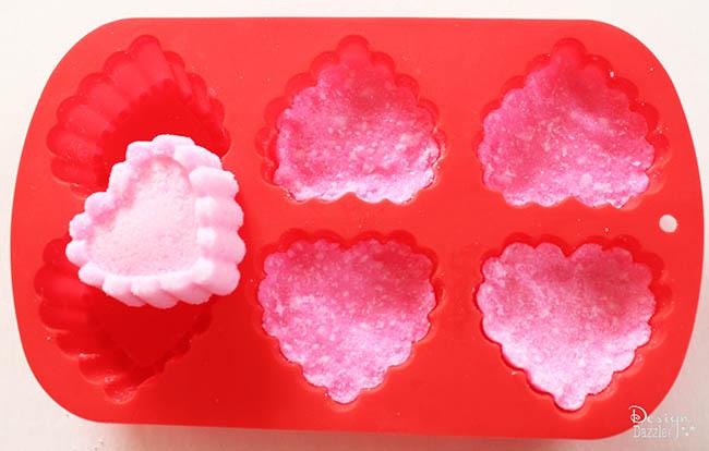 Moldable sugar scrubs for Valentine's Day on Design Dazzle!