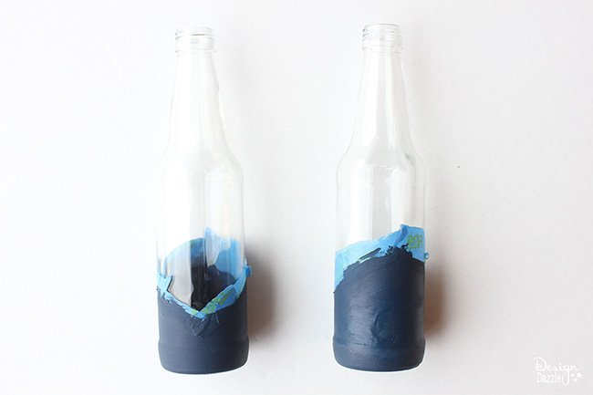Make color dipped bottles- learn how on Design Dazzle!