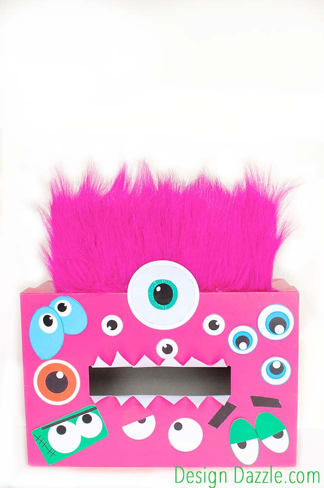 Make this fun Monster Valentine Card Holder! It's so easy, you and your kids will love it. Check it out on Design Dazzle