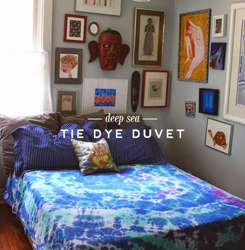 DIY tie dye duvet cover