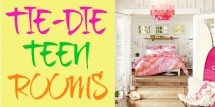 tie die teen rooms
