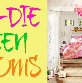 tie die teen rooms