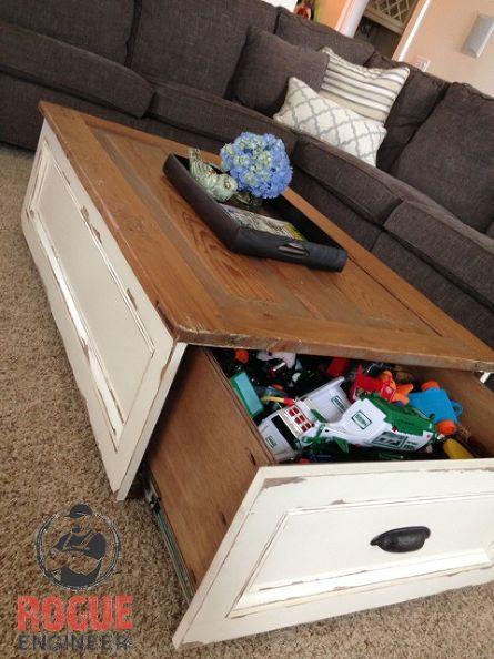I love this toy organization idea! Smart hidden storage - genius!