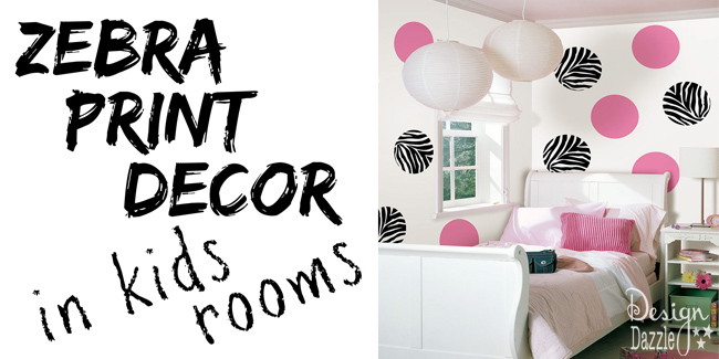 Zebra Print Decor In Kids Rooms!