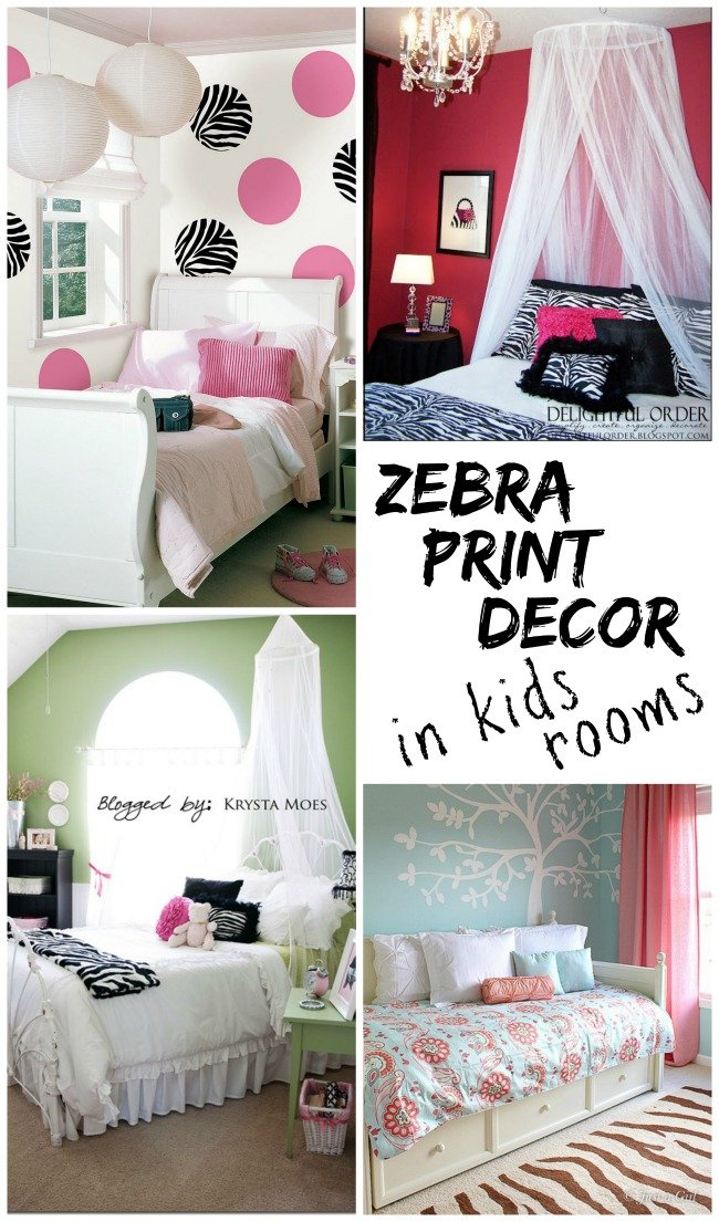 Zebra Print Decor In Kids Rooms Design Dazzle