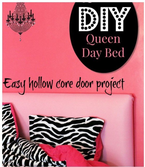 use a door to create a headboard