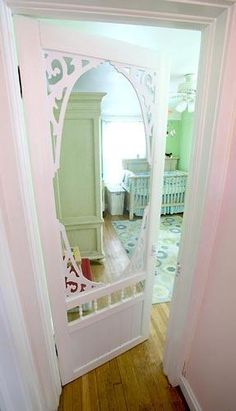 screen door as a nursery door