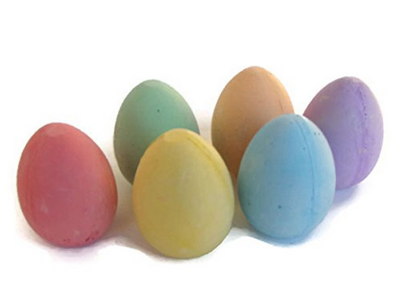 Easter egg sidewalk chalk - LOVE! This post has such perfect Easter gift ideas for girls!
