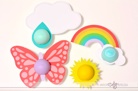EOS chapstick Easter basket stuffers! So cute...and free printables! Awesome Easter gift idea for girls!