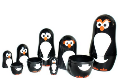 These penguin nesting dolls are DARLING! This post has such an awesome Easter gift ideas for boys!