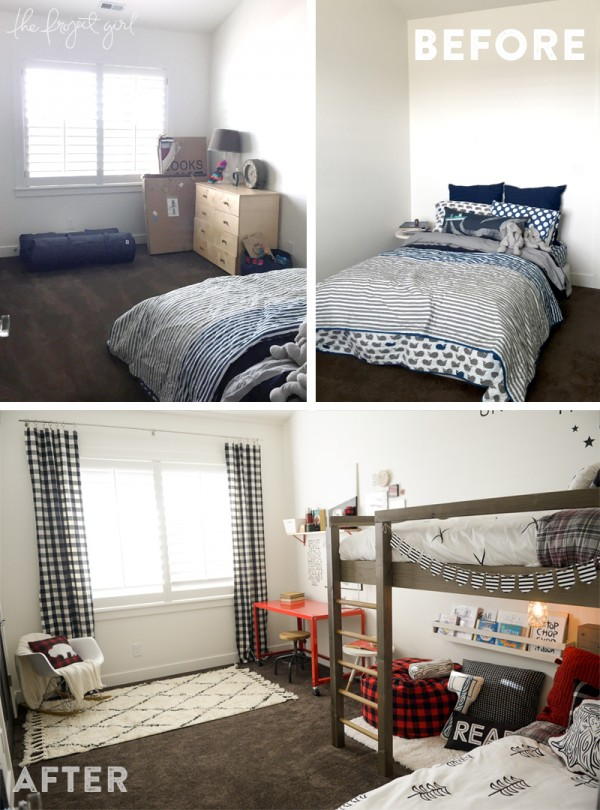 Lumberjack Room Makeover! This room so creative and inspires some imagination!
