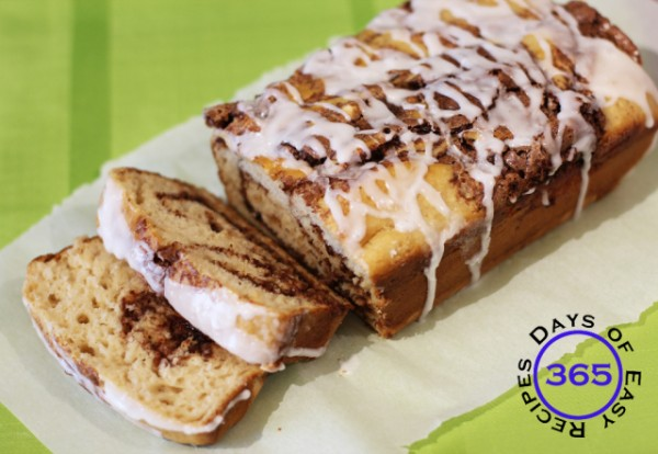 Yummy cinnamon swirl loaf
