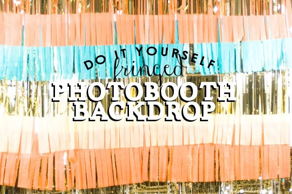 Love this fringed DIY photo backdrop!