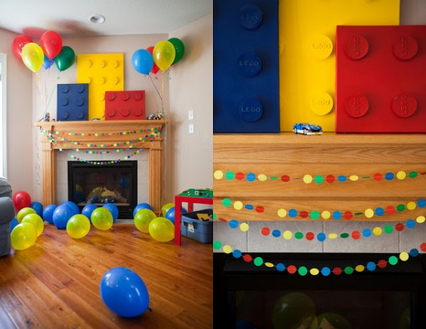 Love these lego party decorations!