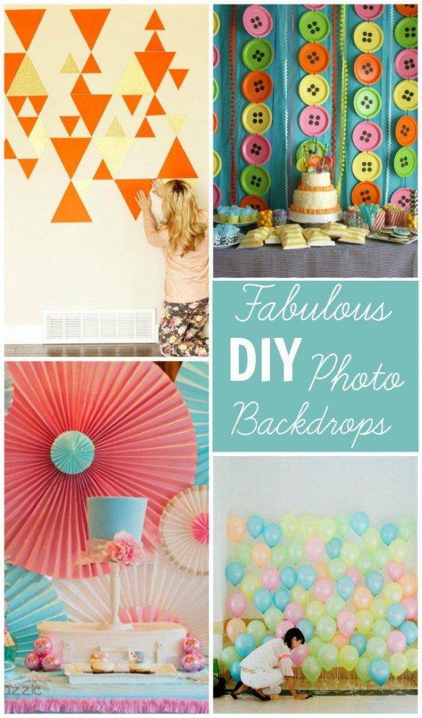 Fabulous DIY photo backdrops for parties and other special occasions. Having a great photo op doesn't have to be expensive!