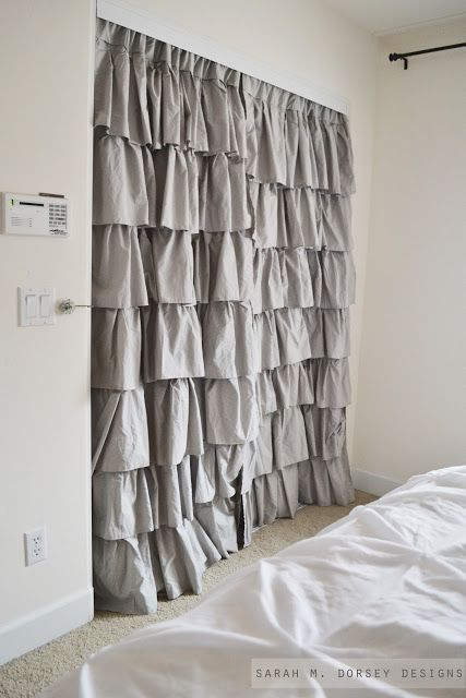 drapery curtains for closet doors