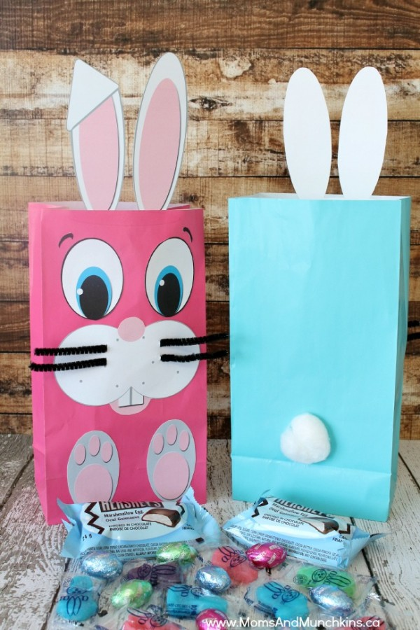 Easter Bunny bag - free printables!
