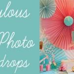 DIY Photo Backdrop Round-Up!