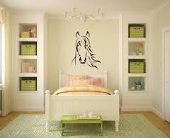Beautiful Horse Decal In A Girls Bedroom