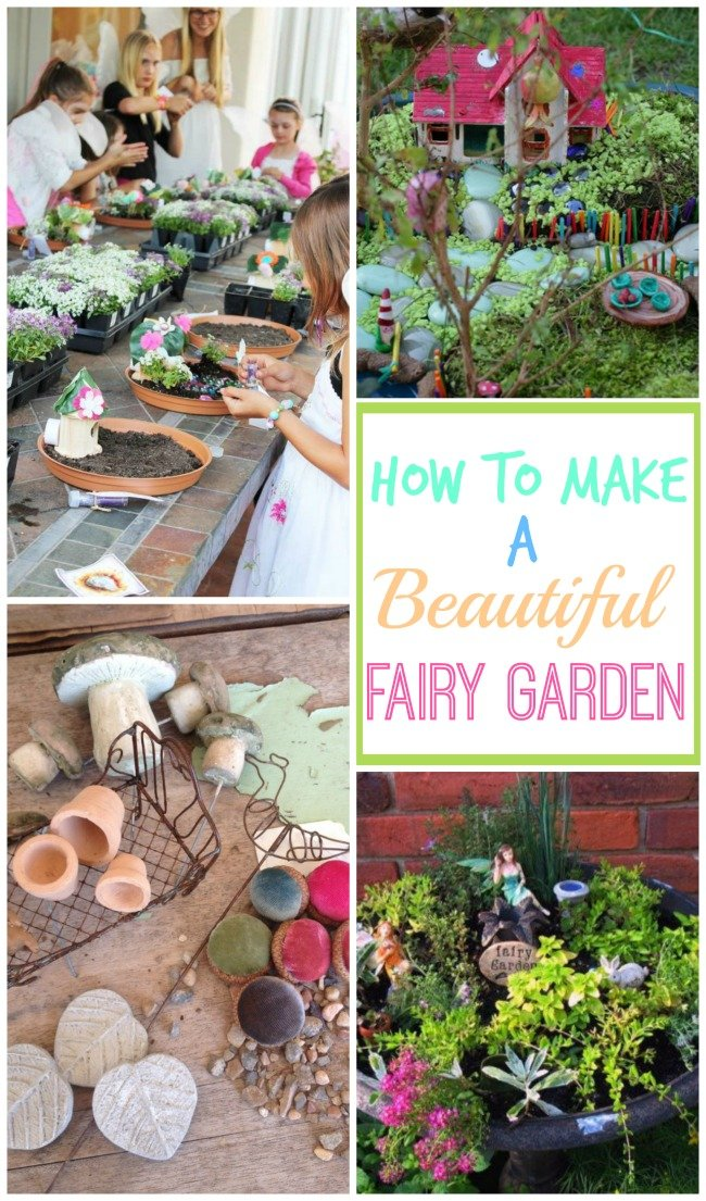 How to make a beautiful Fairy Garden with your kids! The cutest ideas for an outdoor DIY garden full of houses and fairies. || Design Dazzle