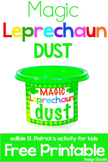 Magic Leprechaun Dust - a fun activity for kids to do on St. Patrick's Day