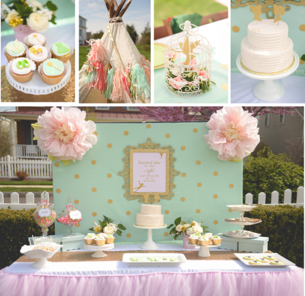 Pink and mint Neverland birthday party