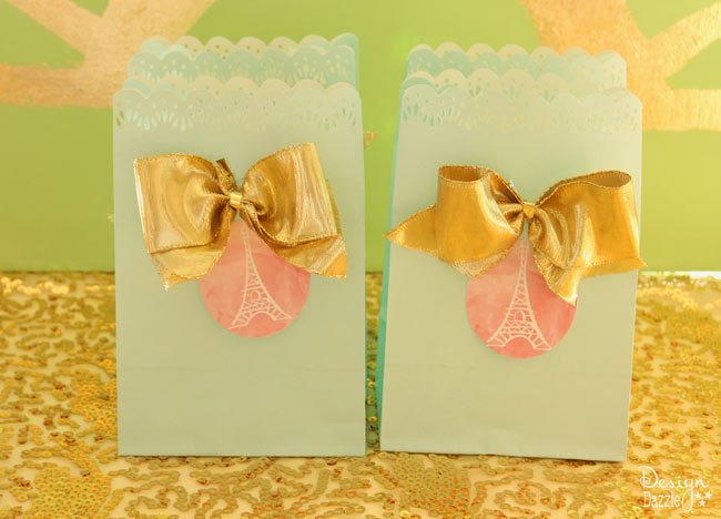 Paris themed favor bags - Design Dazzle