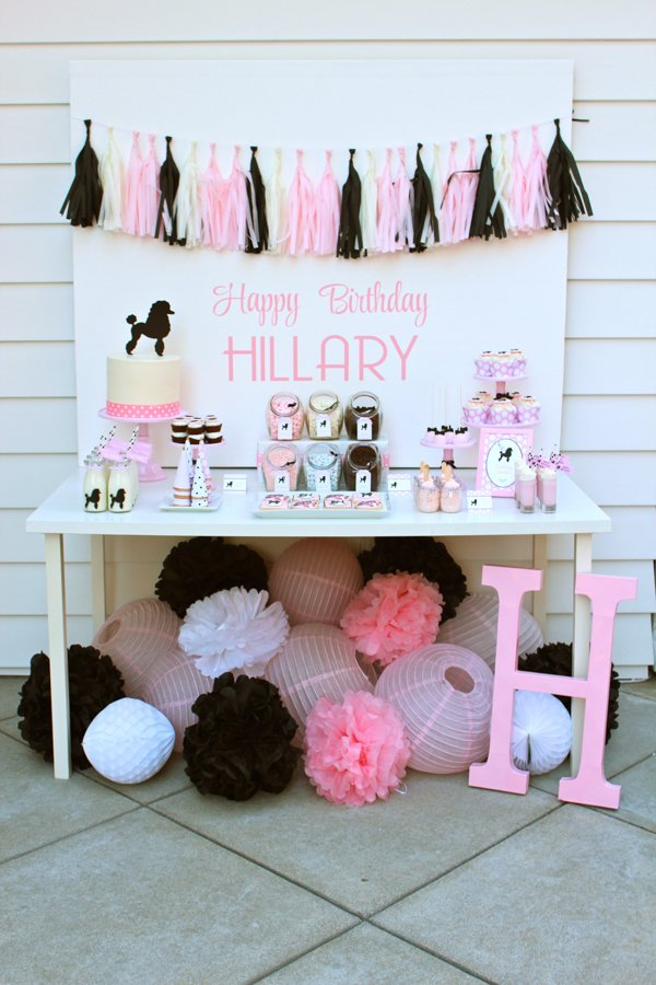 Pink and Black 50s Theme Birthday Party! This party is so full of fun and & A 50u0027s Themed Girls Birthday Party! - Design Dazzle