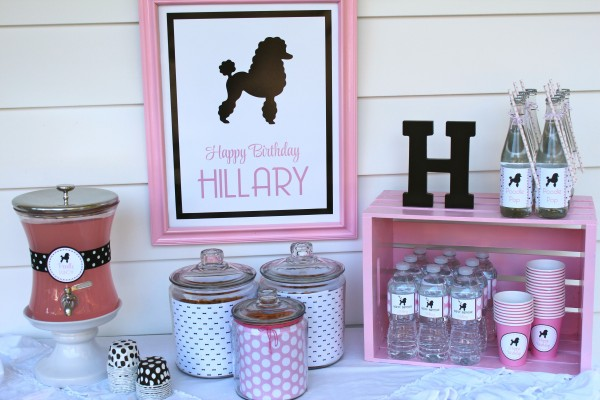 What a fun 50's themed girls birthday party!