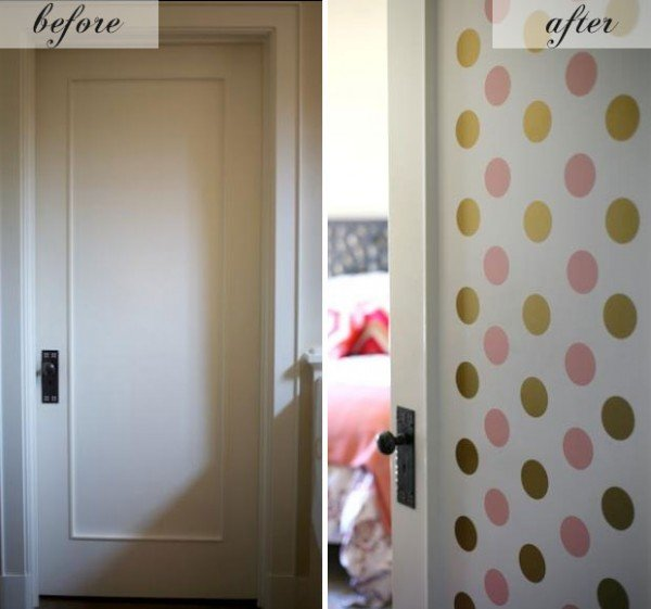 polka dot door makeover