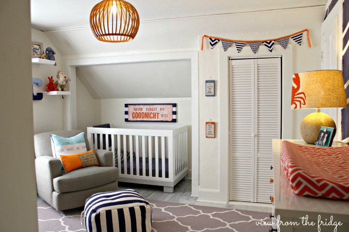 shared boys room - crib side of the room