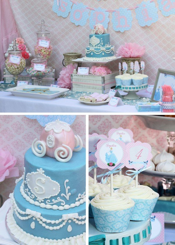A beautiful Cinderella party fit for a princess!