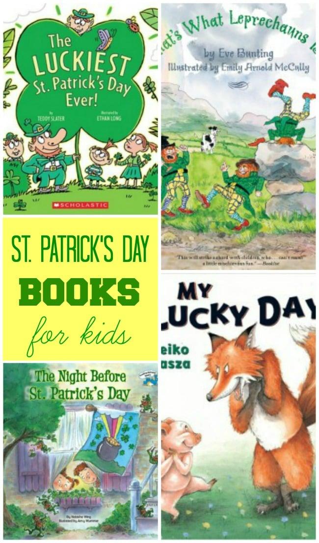 Wonderful St. Patrick's Day books to read with your kids! Fun ways to add to your bookshelf! #kidbooks #stpatricksday || Design Dazzle