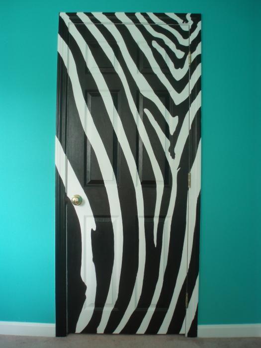 zebra door