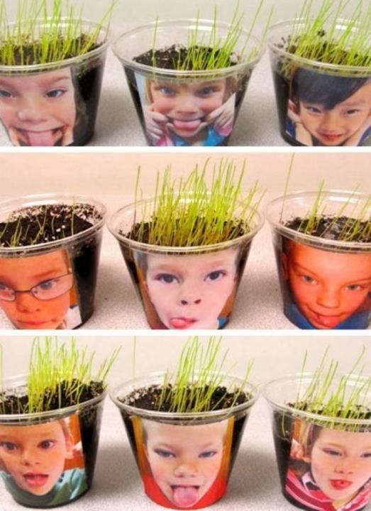 Such fun! DIY Chia Heads