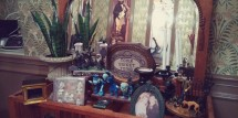 This office is fully decorated like Disney's Haunted Mansion - you've got to check it out!