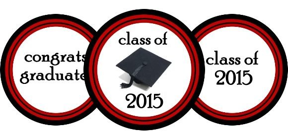 class of 2015 printables banner cupcake wrap cupcake toppers