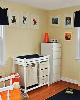 Boy's Vibrant Colored Nursery
